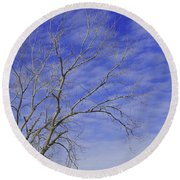 Leafless Round Beach Towel