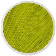 Leafy Leaf Round Beach Towel
