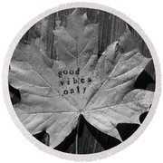 Leafy Vibes Round Beach Towel