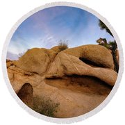 Lean On Me Round Beach Towel by John Hight