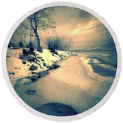 Leaning Round Beach Towel