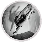 Leaping In Studio Round Beach Towel
