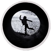 Leaping Round Beach Towel