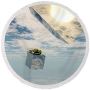Leaps And Bounds Round Beach Towel