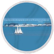 Learn To Sail Round Beach Towel
