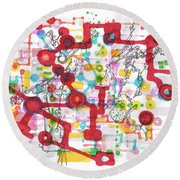 Learning Circuit Round Beach Towel