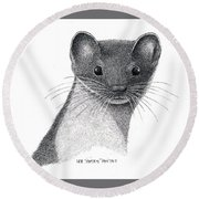 Least Weasel Round Beach Towel
