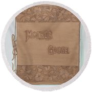Leather Book Cover Round Beach Towel