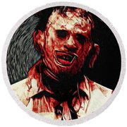Leatherface Round Beach Towel