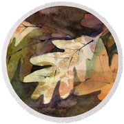 Leaves 7 Round Beach Towel