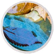 Leaves Round Beach Towel