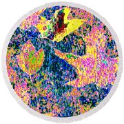 Leaves Of Flurry 1 Round Beach Towel