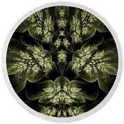 Leaves Of Green Round Beach Towel