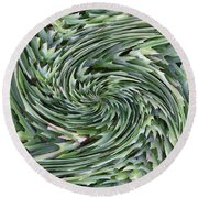 Leaves On Spin Cycle Round Beach Towel