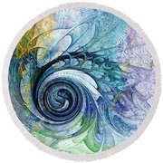 Leaving It All Behind Round Beach Towel