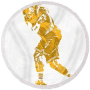 Lebron James Cleveland Cavaliers Pixel Art 13 Round Beach Towel