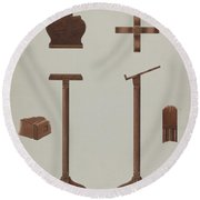Lectern (reading Stand) Round Beach Towel