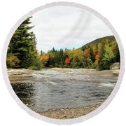 Ledge Falls Hollow, Baxter State Park Round Beach Towel