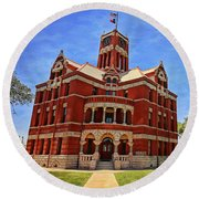 Lee County Courthouse Giddings Texas 2 Round Beach Towel