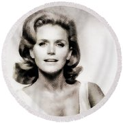 Lee Remick, Vintage Actress Round Beach Towel