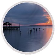 Leesylvania Morning Round Beach Towel