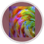 Left Side Faerie Wing Round Beach Towel