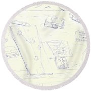 Lefty Coffee Table Round Beach Towel