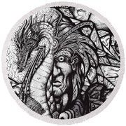 Legend Round Beach Towel