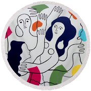 Leger Light And Loose Round Beach Towel by Tara Hutton
