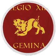 Legio Xiii Gemina Round Beach Towel