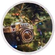Leica Christmas Round Beach Towel