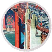 Leisure And Stress Round Beach Towel