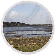 Lelant Water Hayle Estuary Round Beach Towel