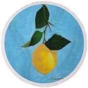 Lemon Drop Round Beach Towel
