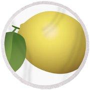 Lemon Fruit Round Beach Towel