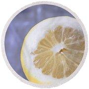 Lemon Half Round Beach Towel
