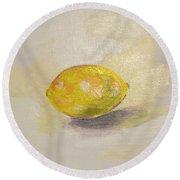 Lemon Round Beach Towel