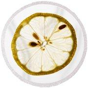 Lemon Slice Round Beach Towel