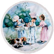 Lemonade Ladies Round Beach Towel