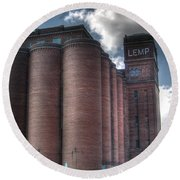 Lemp Brewery Round Beach Towel
