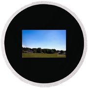 Length Wise Scene Of Countryside In Frederick Maryland Round Beach Towel