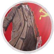 Lenin Gets Bolshi After A Bevi Round Beach Towel
