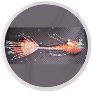 Lenny The Lipster Fish Round Beach Towel