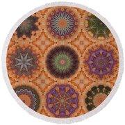 Lentil Purple Cauliflower Medallions Round Beach Towel