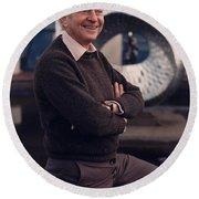 Leon Lederman, American Physicist Round Beach Towel