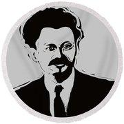Trotsky Round Beach Towel