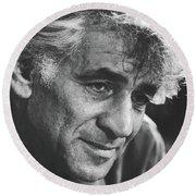 Leonard Bernstein 1970 Round Beach Towel