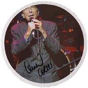 Leonard Cohen Autographed Round Beach Towel