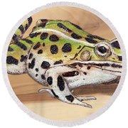 Leopard Frog No 1 Round Beach Towel