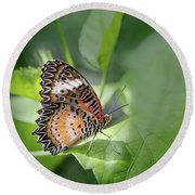 Leopard Lacewing Round Beach Towel